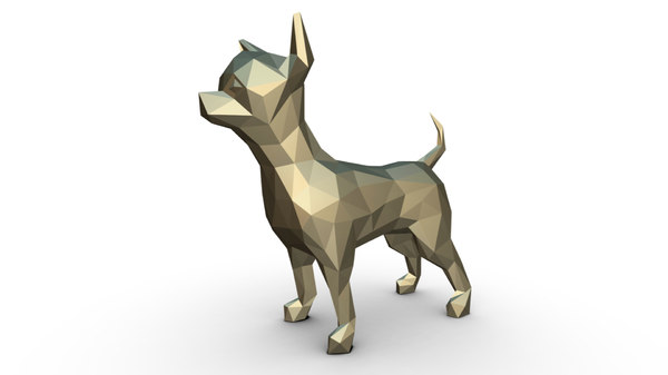 3D printed chihuahua figure model