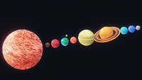 3D model solar planets