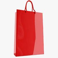 3D plastic tote bag model