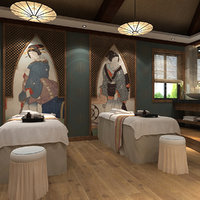 spa beauty salon scene 3D