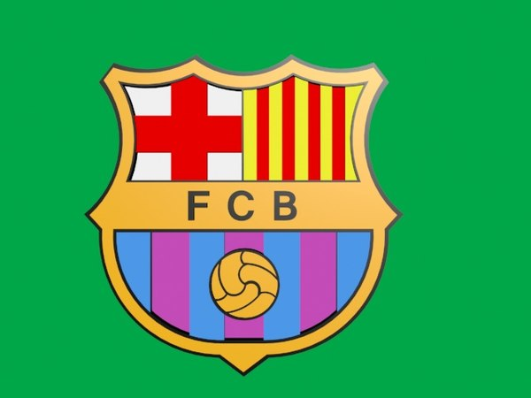 Barcelona Football Logo 3d Model Turbosquid 1362144