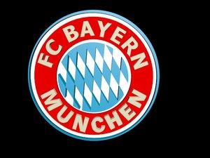 3D bayern muenchen football logo model