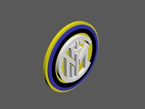 inter milan football logo model