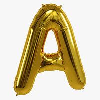 3D balloon foil gold