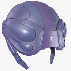 pbr sci fi helmet 3D model