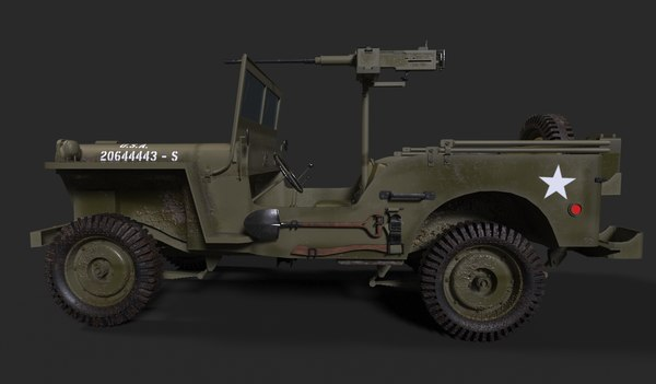 3D willy jeep model