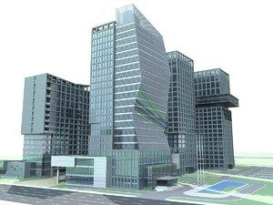 3D apartments architectural model