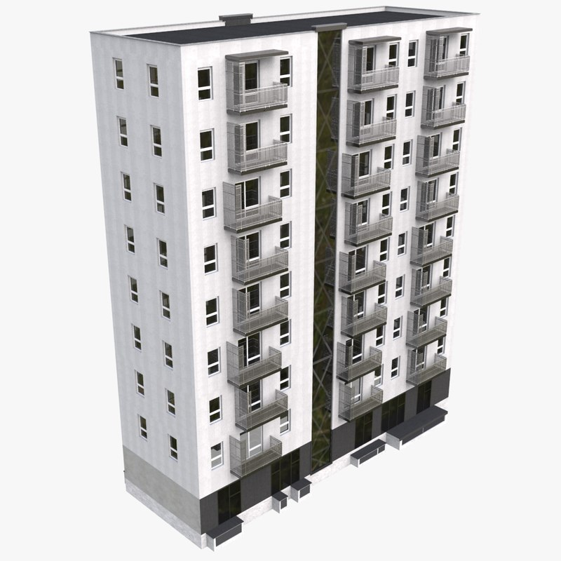 3d model new european flat