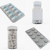 pill bottles 3D