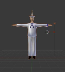 rigged sailor character model