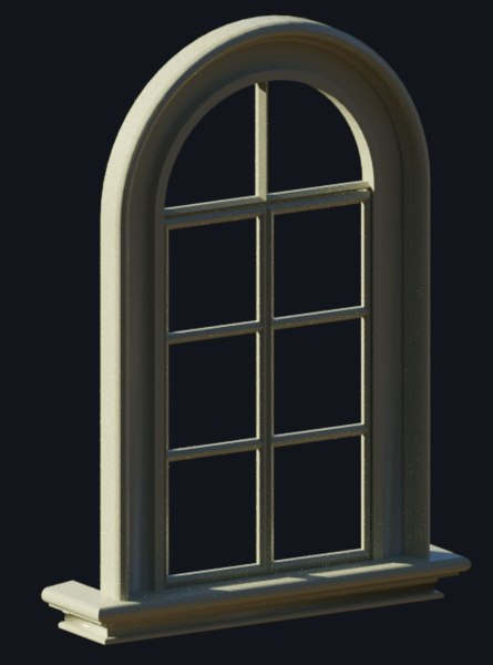 window interior exterior 3d obj