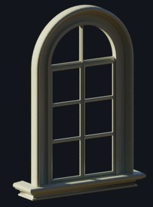 window interior exterior 3d obj