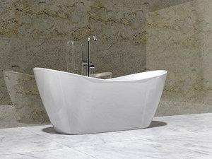 bathtub design modern 3D model