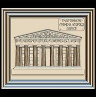 3D parthenon panno stl file model