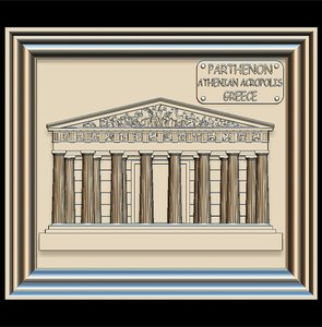 3D parthenon panno stl file model