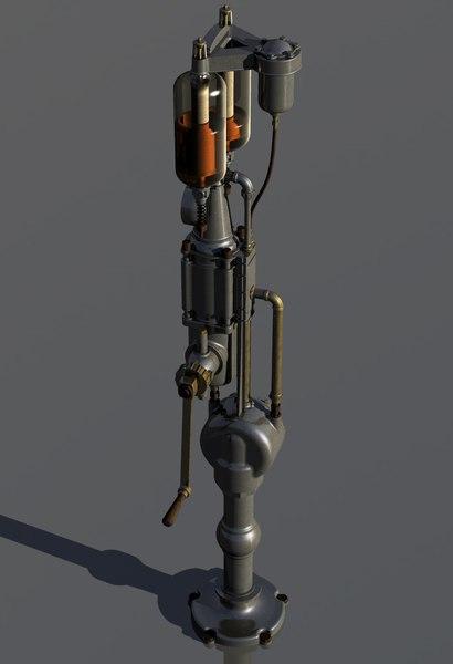 3D vintage gas pump -