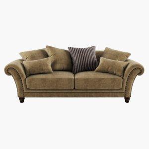 sofa photorealistic 3D