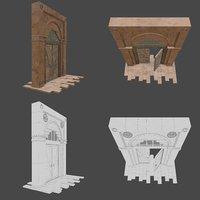 3D model gate old