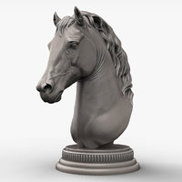 Horse Head Sculpture for 3d Printer