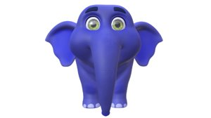 cartoon elephant model