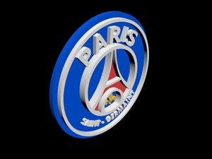 psg football logo 3D model