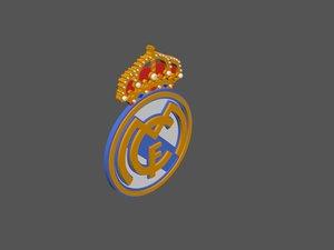 3D real madrid football logo