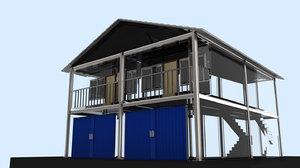3D shop house ruko