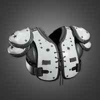 American Football Shoulder Pads 01a (SNG) - PBR Game Ready