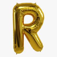 balloon foil gold 3D model