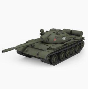 3D t-55a medium tank model