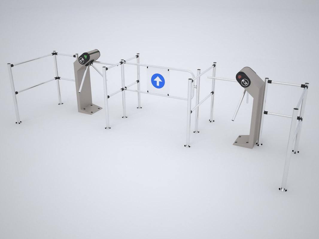 3D perco entrance control model