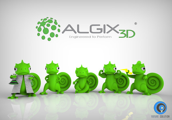 3D charlie print chameleon professions