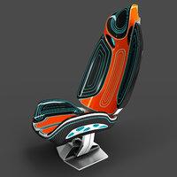 Futuristic sport seat