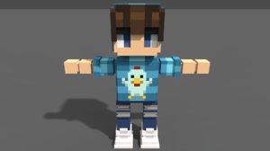 3D voxel boy