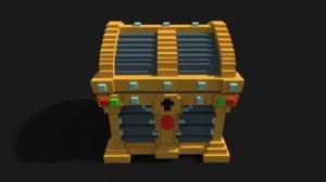 voxel chest 3D model