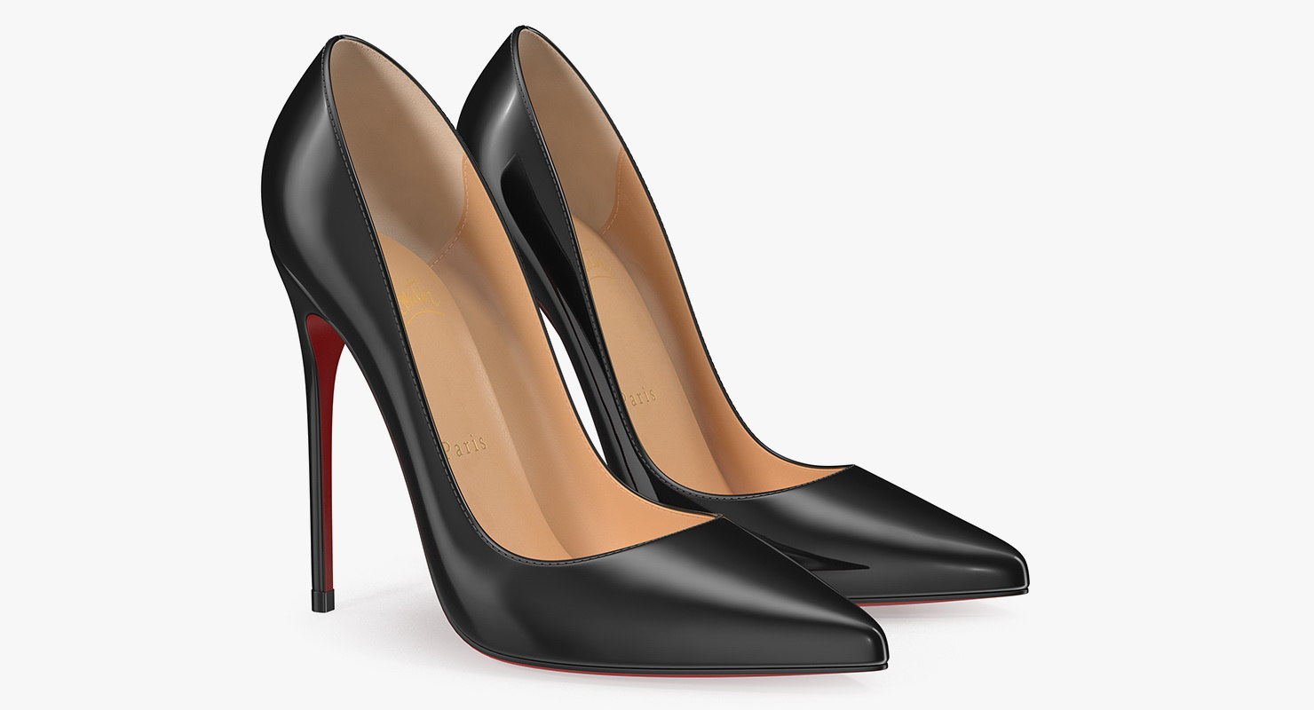 heels women shoes 3D model