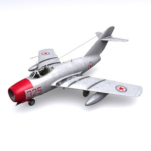 mig-15 jet fighters pepelyaev 3D model
