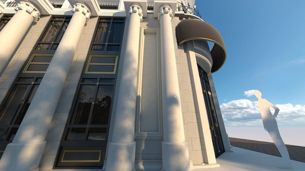 3D neoclassic classic commercial