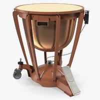 Copper Kettledrum 3D Model