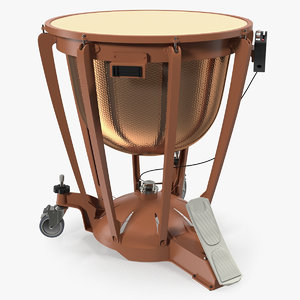 3D model copper kettledrum drum