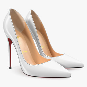 3D white pumps