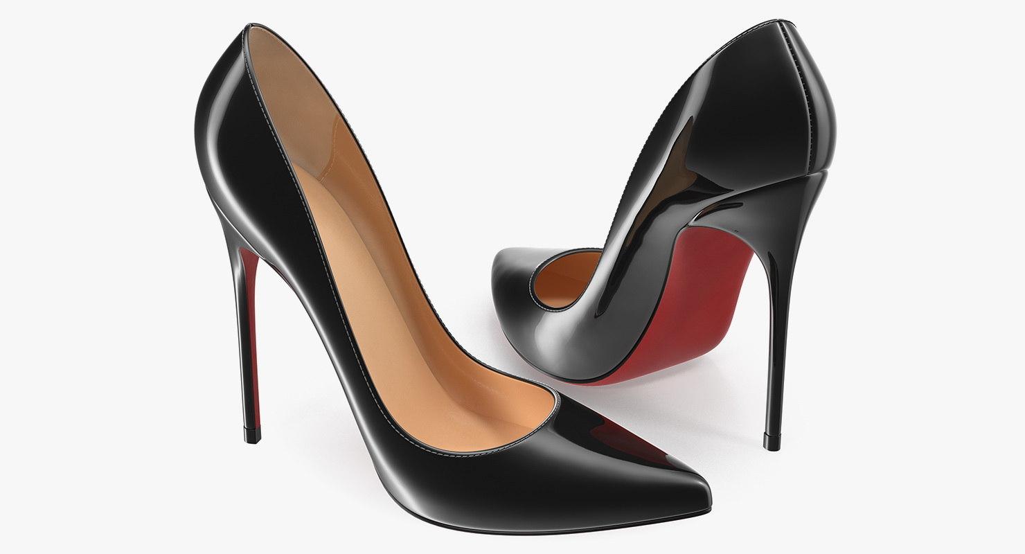 women shoes generic 3D model