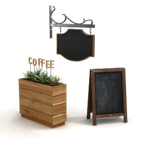 3D cafe signs