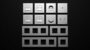 switches abb zenit 3D model