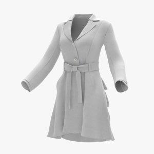 women raincoat 3D model