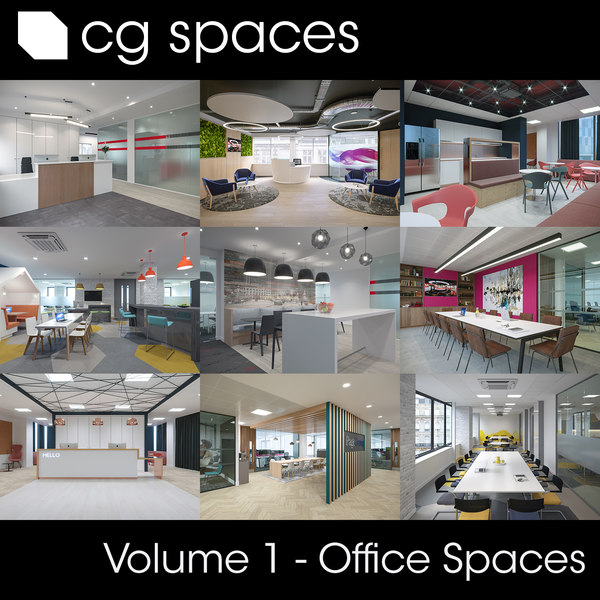 3D model cg spaces volume scenes
