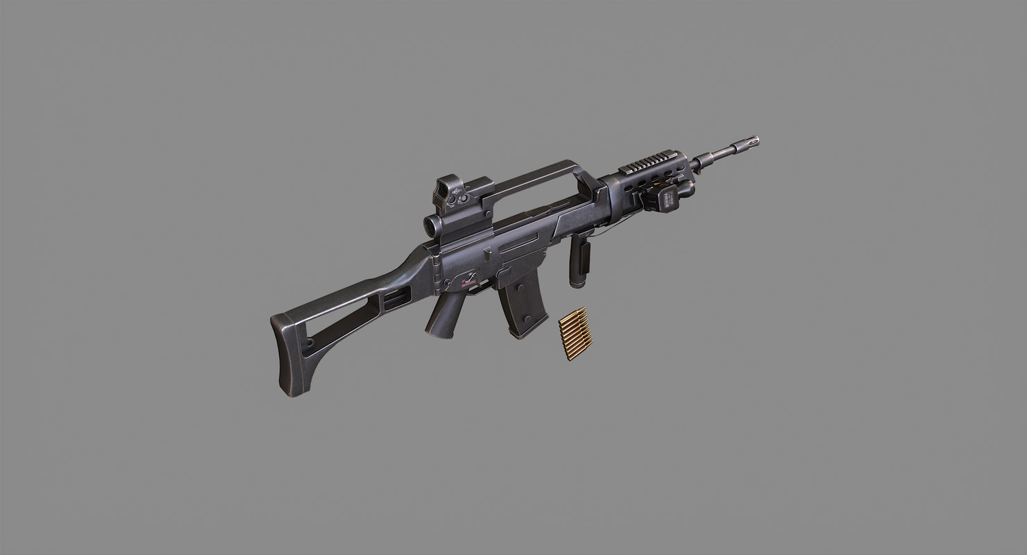 rifle real rendering 3D