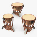 Kettle Drums 3D Models Set