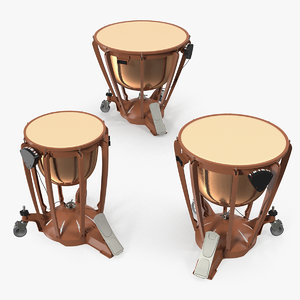 kettle drums set 3D model