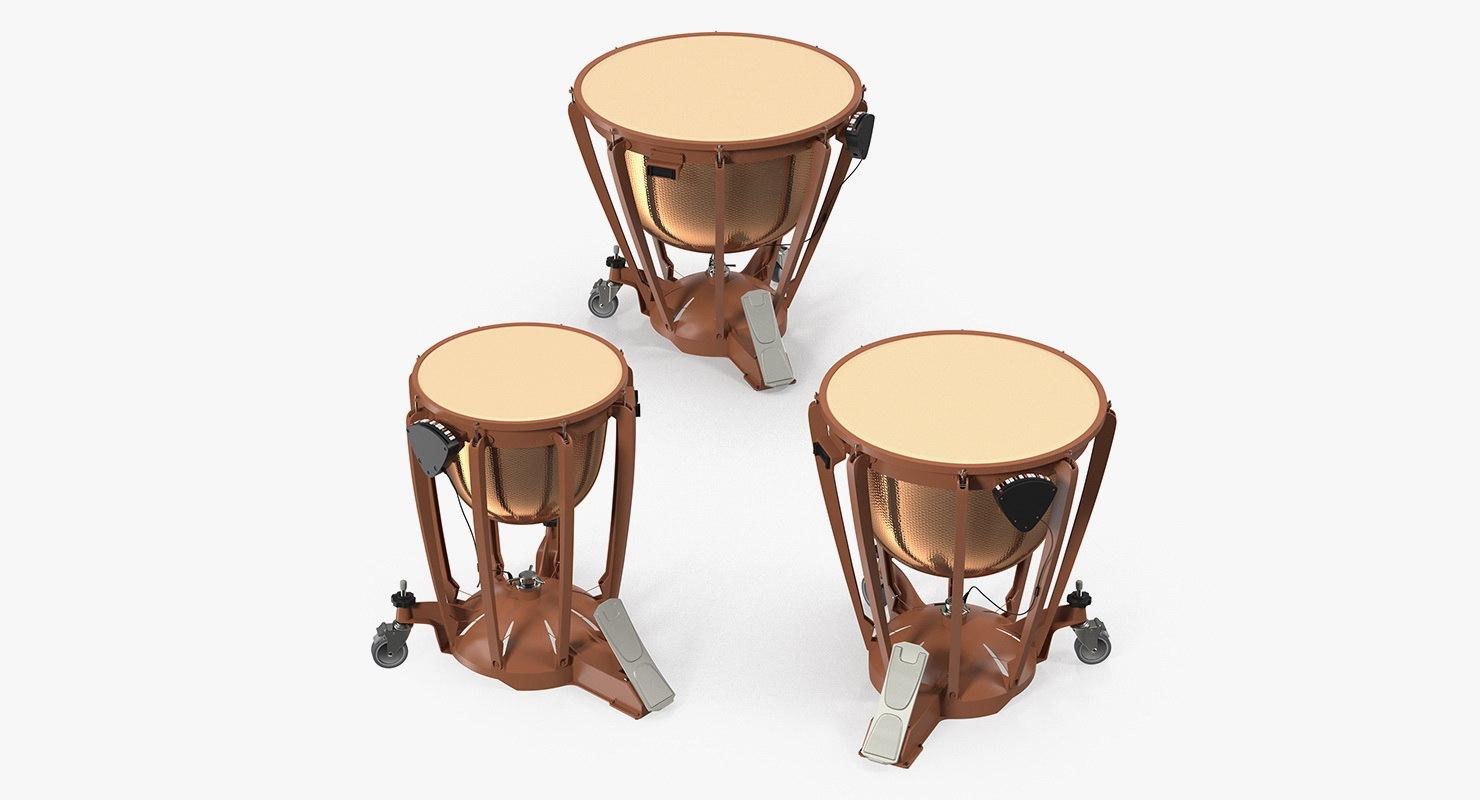 kettle drums set 3D model